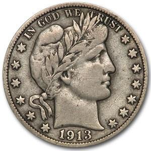 1913-S Barber Half Dollar VF