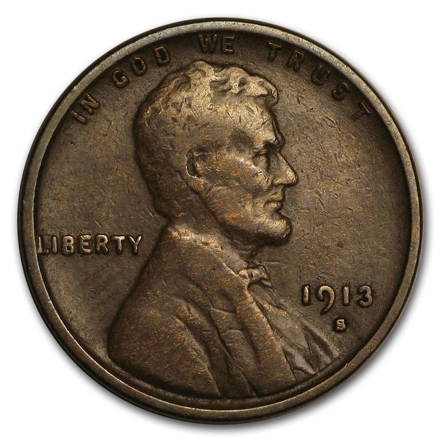 1913-S Lincoln Cent Fine