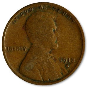 1913-S Lincoln Cent Good