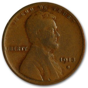 1913-S Lincoln Cent VG