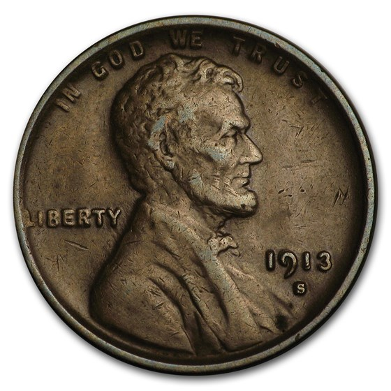 1913-S Lincoln Cent XF