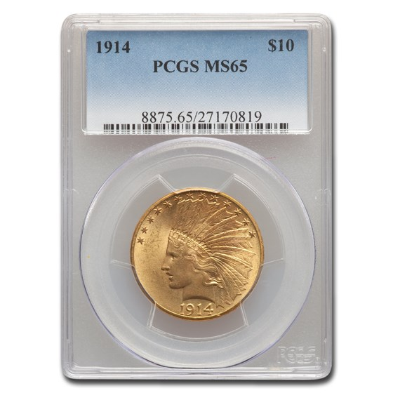 1914 $10 Indian Gold Eagle MS-65 PCGS