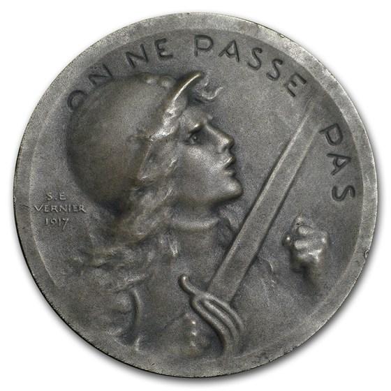 1914-1918 France WWI Verdun Battle Medal (Original Box & Papers)