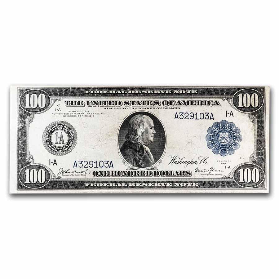 1914 (A-Boston) $100 FRN Choice VF (Fr#1087)