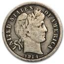 1914 Barber Dime Fine