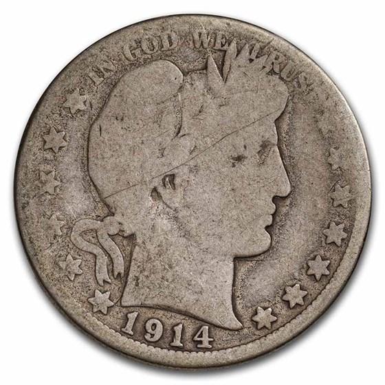 1914 Barber Half Dollar AG