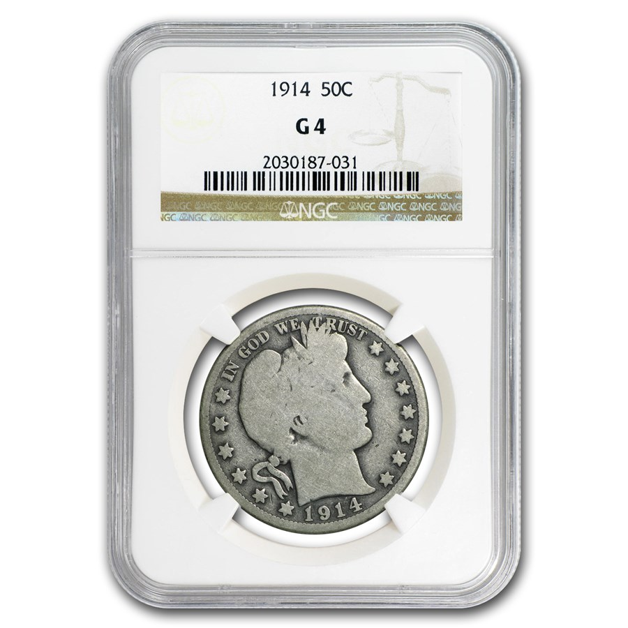 1914 Barber Half Dollar G-04 NGC