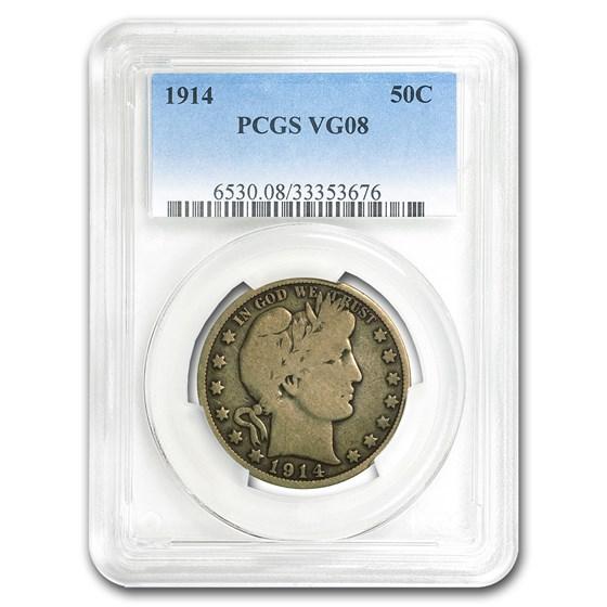 1914 Barber Half Dollar VG-08 PCGS