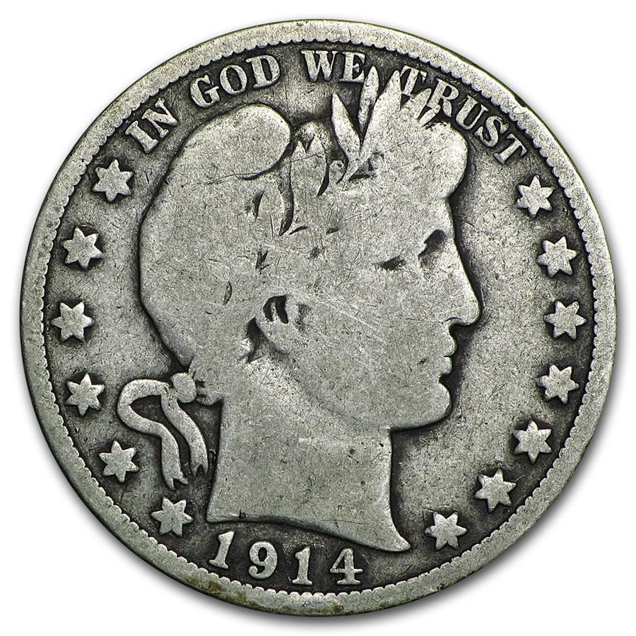 1914 Barber Half Dollar VG