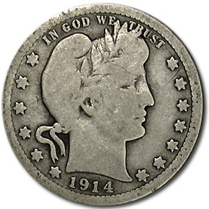 1914 Barber Quarter Good