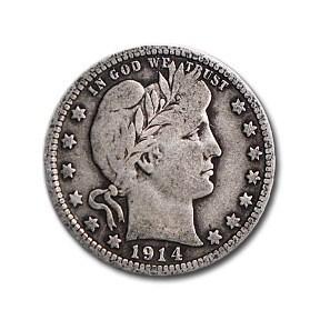 1914 Barber Quarter VG