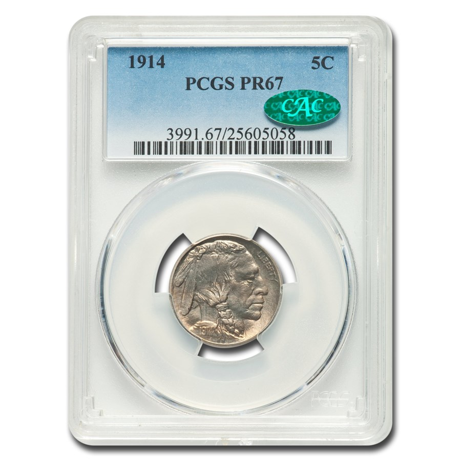 1914 Buffalo Nickel PR-67 PCGS CAC