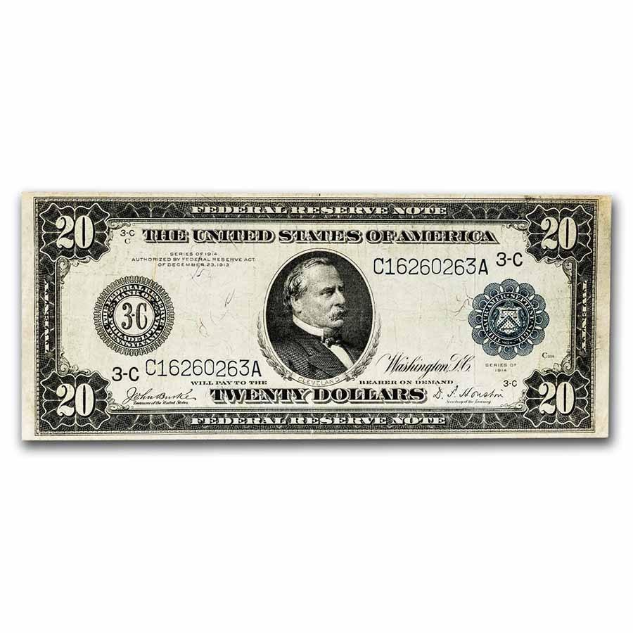 1914 (C-Philadelphia) $20 FRN VF (Fr#974)