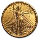 1914-D $20 Saint-Gaudens Gold Double Eagle AU