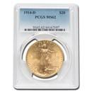 1914-D $20 Saint-Gaudens Gold Double Eagle MS-62 PCGS