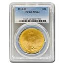 1914-D $20 Saint-Gaudens Gold Double Eagle MS-64 PCGS
