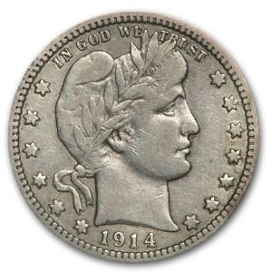 1914-D Barber Quarter Fine