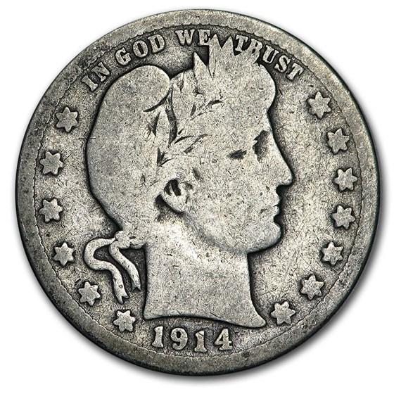 1914-D Barber Quarter Good/VG