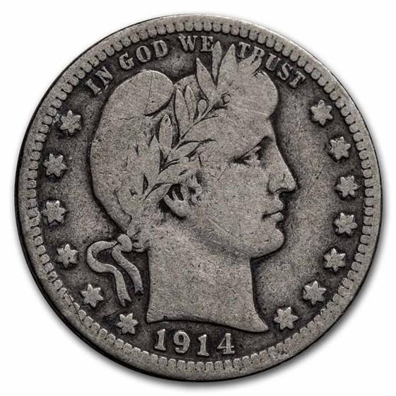 1914-D Barber Quarter VG