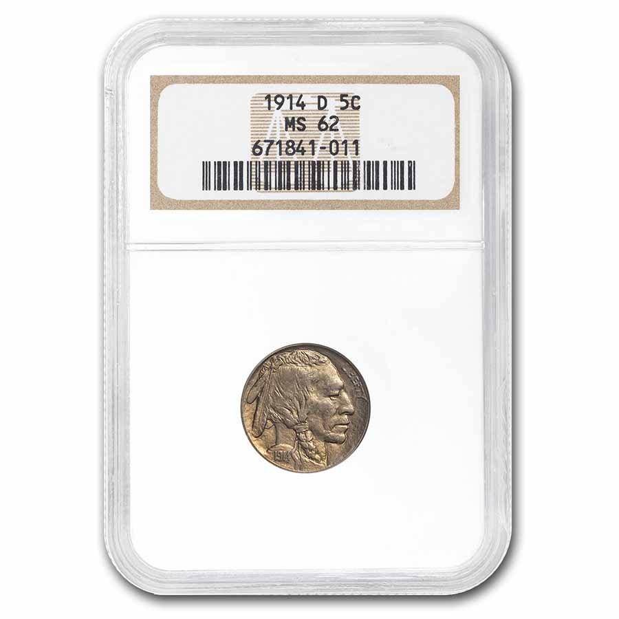 1914-D Buffalo Nickel MS-62 NGC