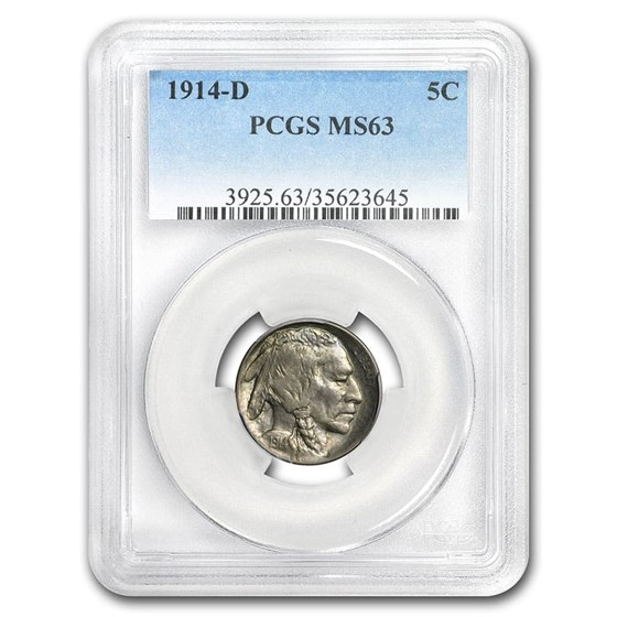 1914-D Buffalo Nickel MS-63 PCGS