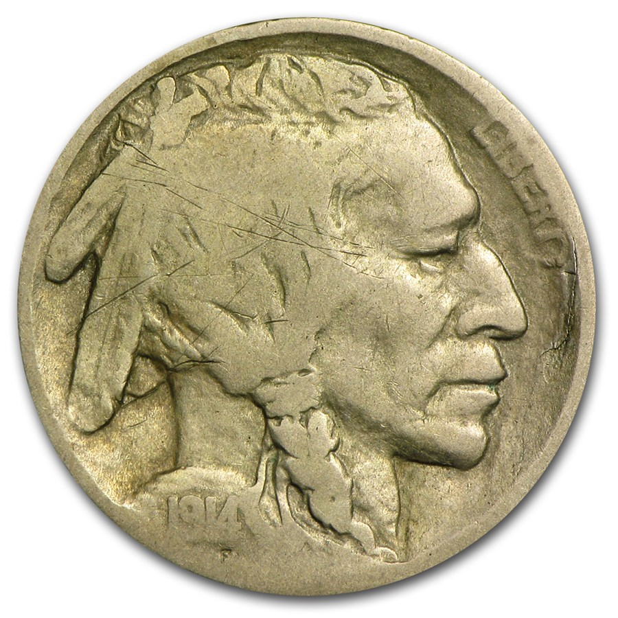 1914-D Buffalo Nickel VG (Scratches)