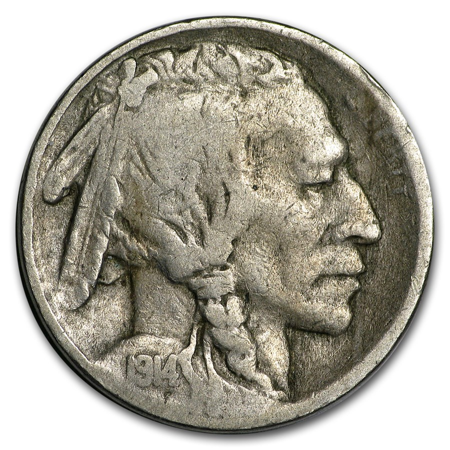 1914-D Buffalo Nickel VG