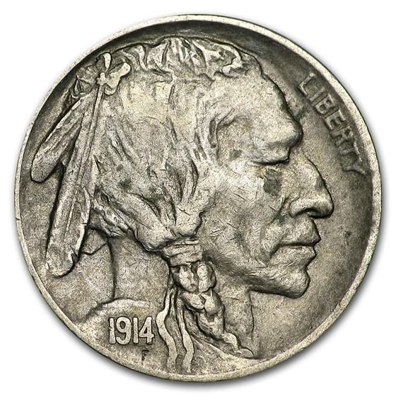 1914-D Buffalo Nickel XF