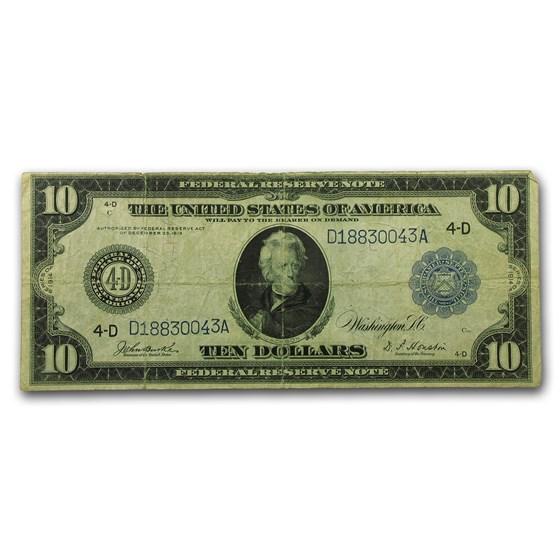 1914 (D-Cleveland) $10 FRN Fine (Fr#919A)