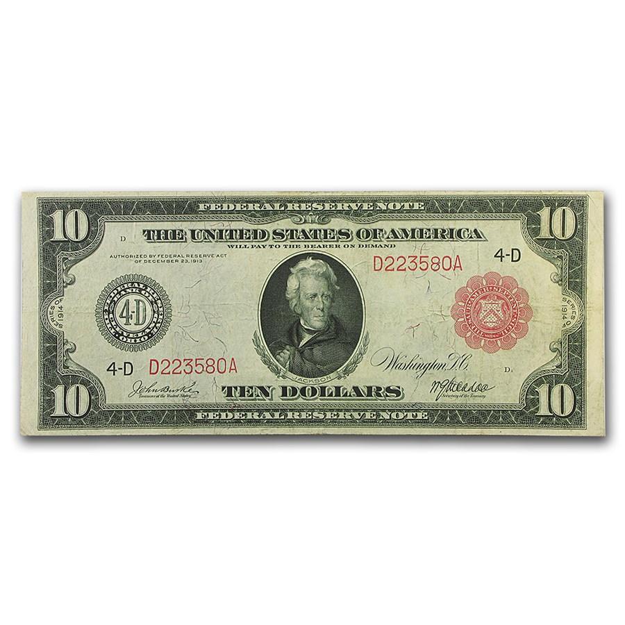 1914 (D-Cleveland) $10 FRN VF
