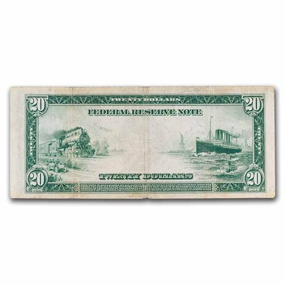 1914 (D-Cleveland) $20 FRN Fine (Fr#979A)