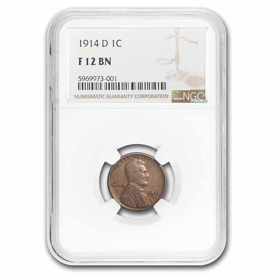 1914-D Lincoln Cent Fine-12 NGC