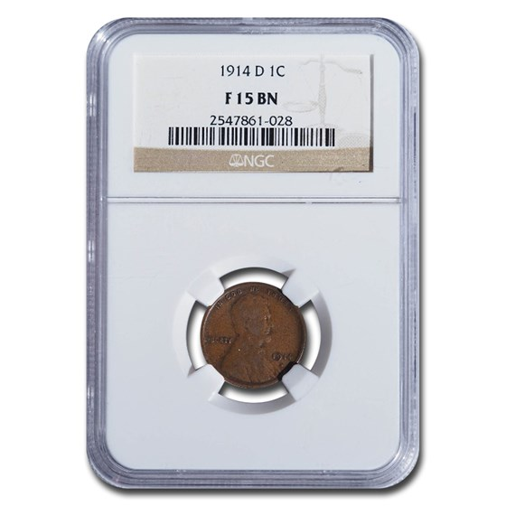 1914-D Lincoln Cent Fine-15 NGC