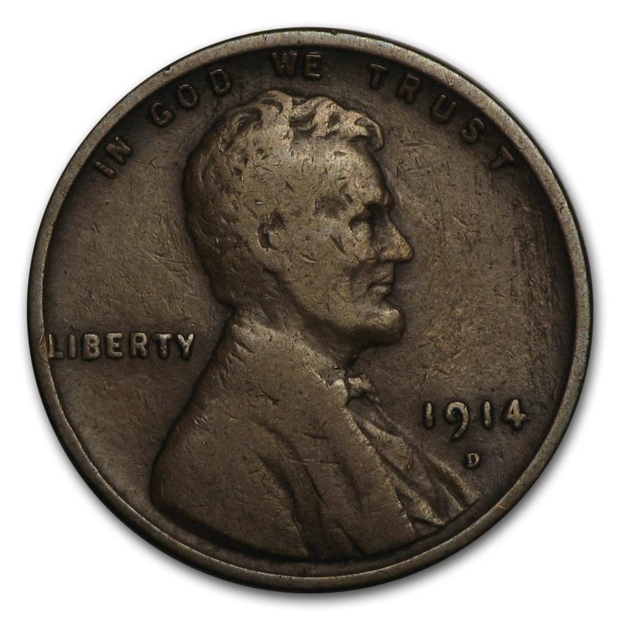 1914-D Lincoln Cent Fine