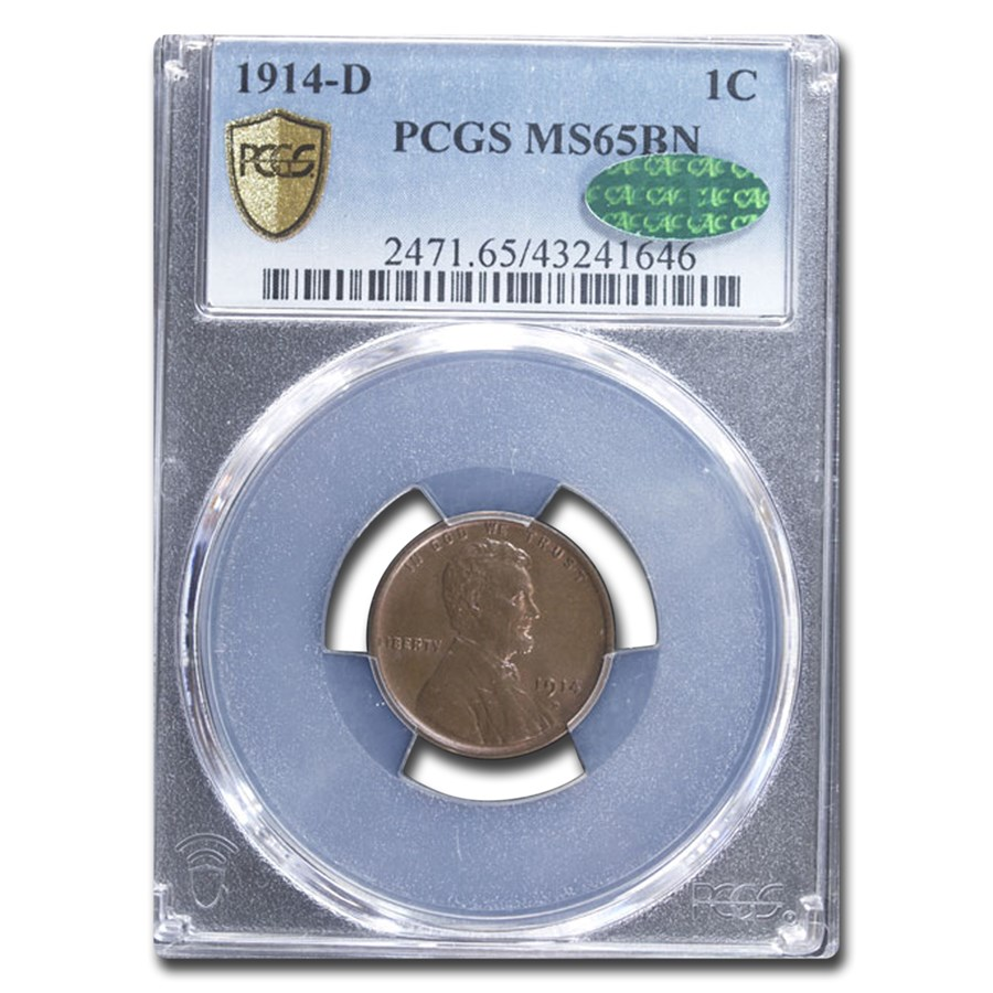 1914-D Lincoln Cent MS-65 PCGS CAC (Brown)