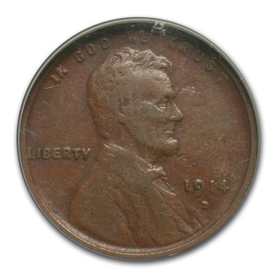 1914-D Lincoln Cent VF-20 NGC