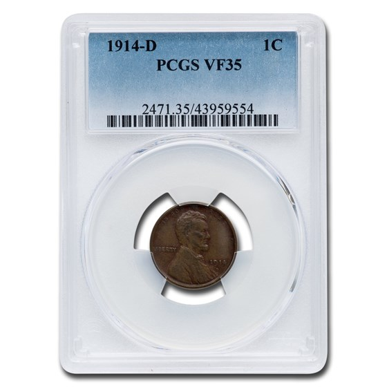 1914-D Lincoln Cent VF-35 PCGS