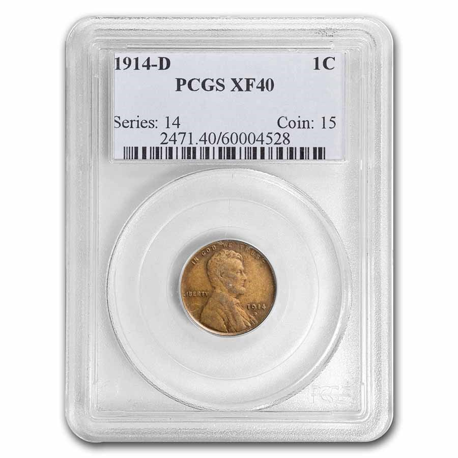 1914-D Lincoln Cent XF-40 PCGS