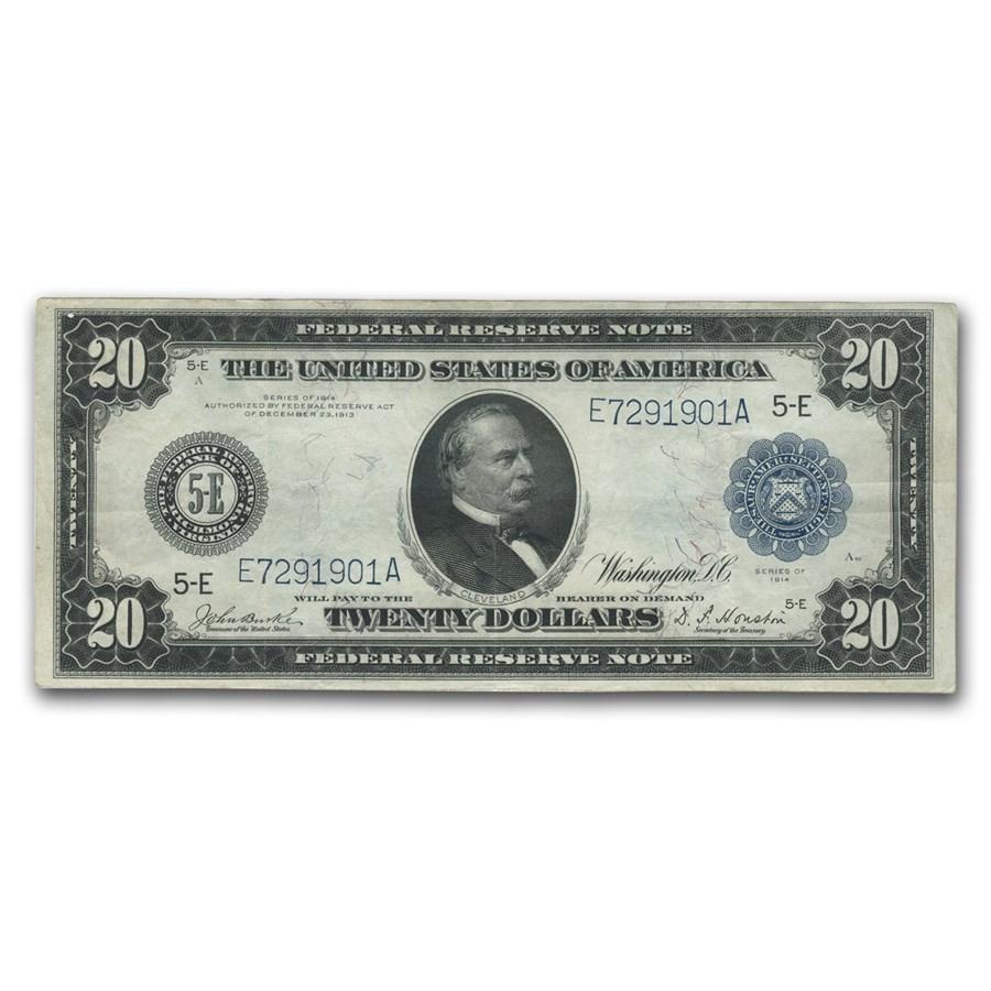 1914 (E-Richmond) $20 FRN VF (Fr#983B)