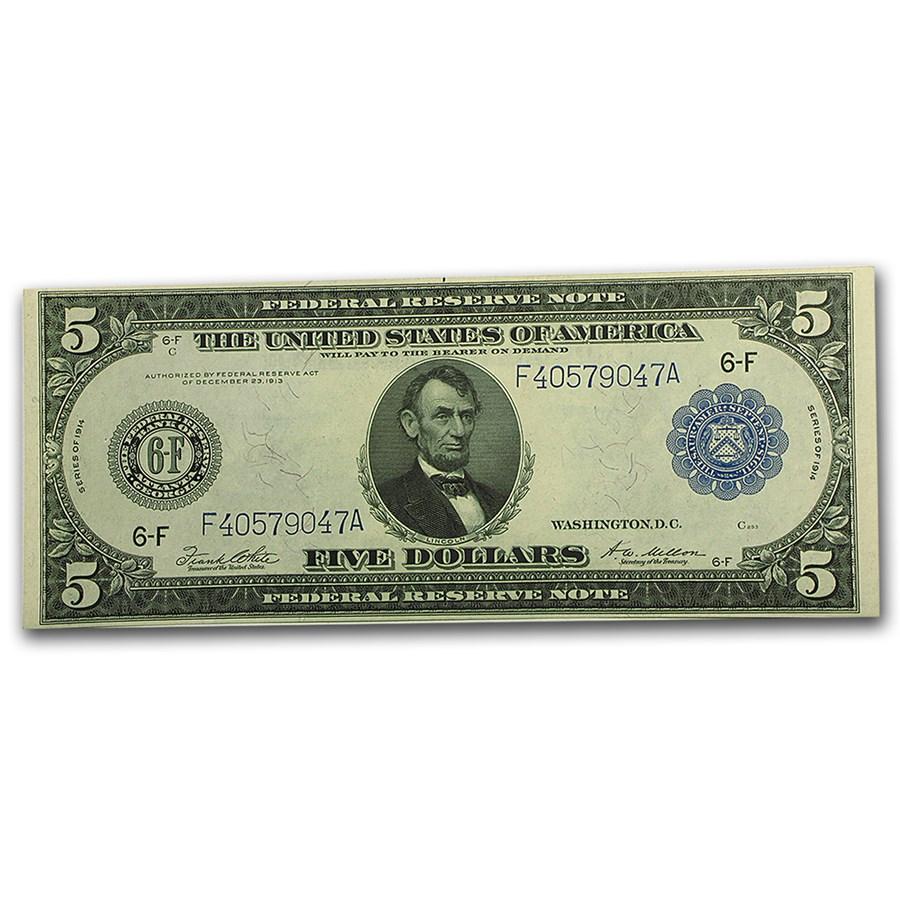 1914 (F-Atlanta) $5.00 FRN CU