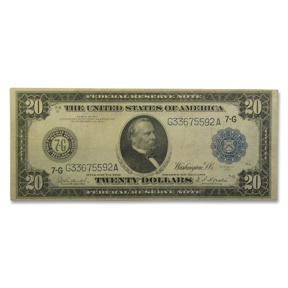 1914 (G-Chicago) $20 FRN VF (Fr#990)