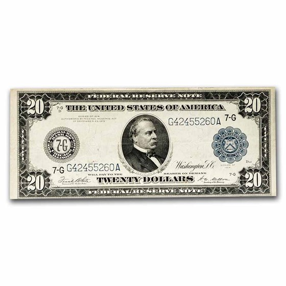 1914 (G-Chicago) $20 FRN VF (Fr#991A)