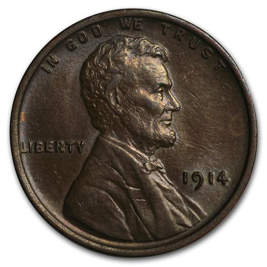 1914 Lincoln Cent AU