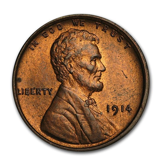 1914 Lincoln Cent BU (Red/Brown)