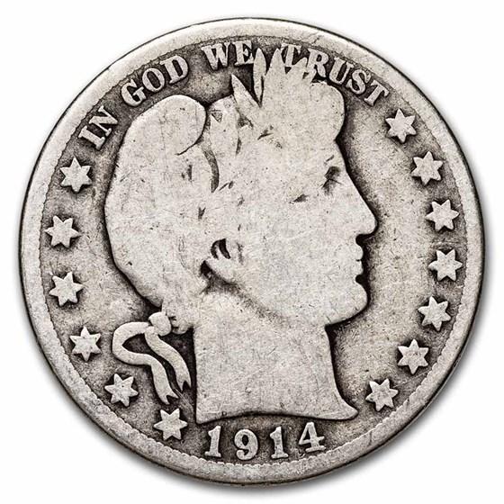 1914-S Barber Half Dollar AG