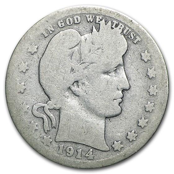 1914-S Barber Quarter AG