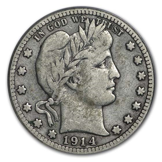 1914-S Barber Quarter VF