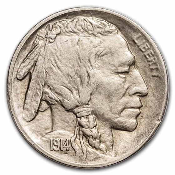 1914-S Buffalo Nickel Choice AU