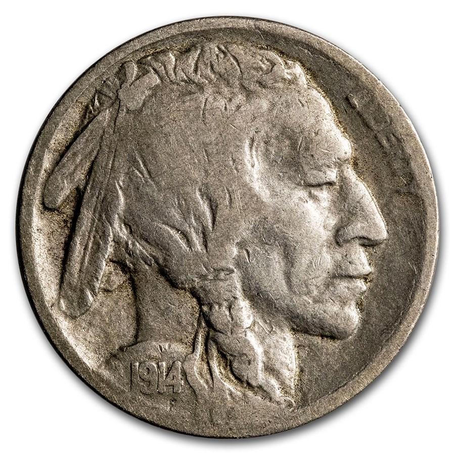 1914-S Buffalo Nickel VF Details