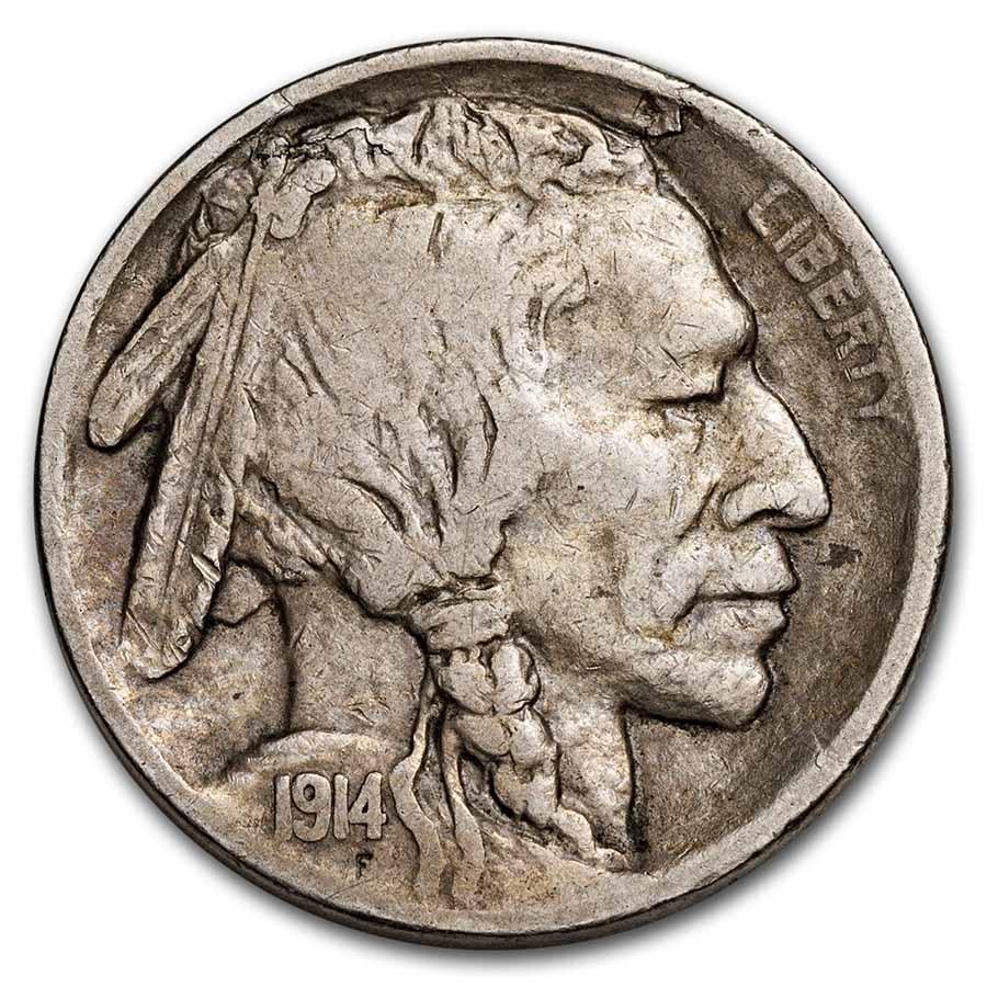 1914-S Buffalo Nickel VF